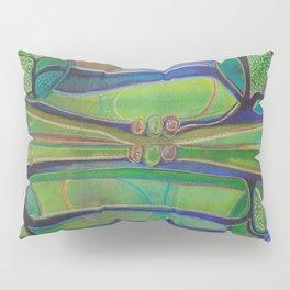 Blue Green Echo Pillow Sham