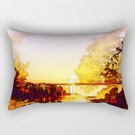 Impression of a sunset Rectangular Pillow
