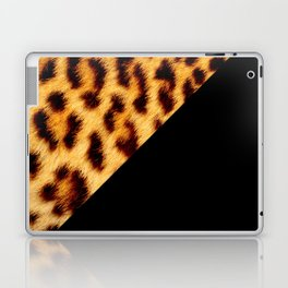 Leopard skin with black color II Laptop & iPad Skin