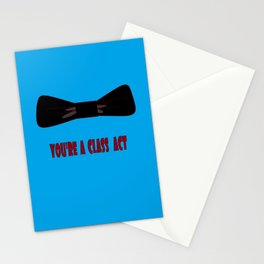 You're a Class Act with Bow and a Blue Background Stationery Cards
