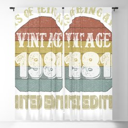 40 Year Old Gifts Vintage 1981 Limited Edition 40th Birthday Blackout Curtain