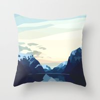 Throw Pillows featuring Dream Land by Ally