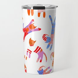 Oh Cats in Hats, it's Christmas! Travel Mug