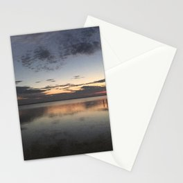 Sunset over the bay Stationery Cards