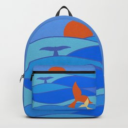 Whales Baby Whale and Mother Backpack