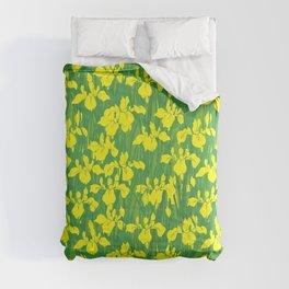 Iris Flowers - Yellow Comforters