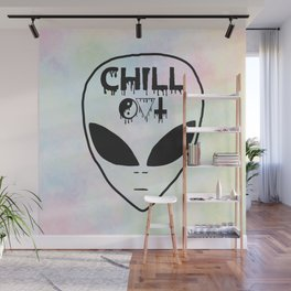Chill Out Alien Wall Mural