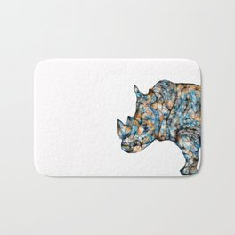 Rhino-no text Bath Mat