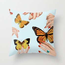 Social Butterflies Throw Pillow