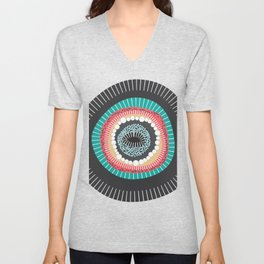 Abstract Graphic, Digital Art Unisex V-Neck