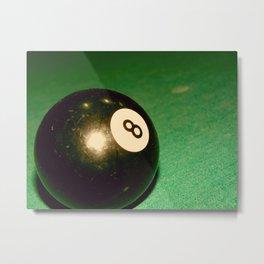 Eight Ball-Green Metal Print