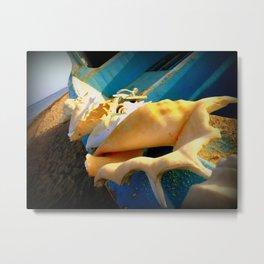sole e azzurro Metal Print