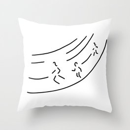 long distance metre run athletics marathon Throw Pillow