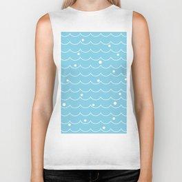 Sea Wave pattern_A Biker Tank