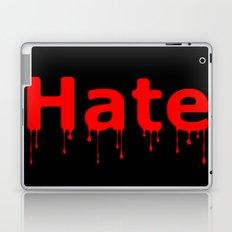 Hate Blood Text Black Laptop & iPad Skin