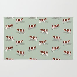 Red & White Holsteins // Sage Rug