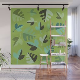 Shades of Green Leaves Wall Mural
