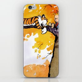calvin hobbes sleep in tree iPhone Skin