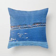The Blue Line Throw Pillow