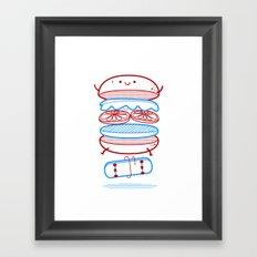 Street burger  Framed Art Print