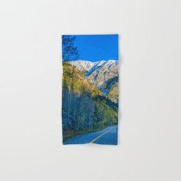 Mountain Path // Rocky Mountains Colorado Landscape Photography Amazing Shots at Sunrise Hand & Bath Towel