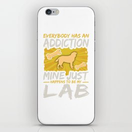 Lab Funny Dog Addiction iPhone Skin