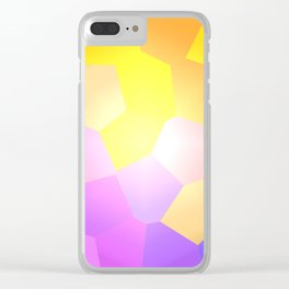 Pastel-La-Vista Clear iPhone Case