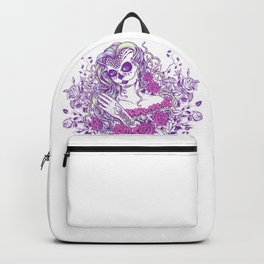 Sexy Woman zombie WITH Flower -  Carla - Vivid Violet - Lavender Backpack