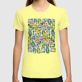 Colorful socks pattern T-shirt