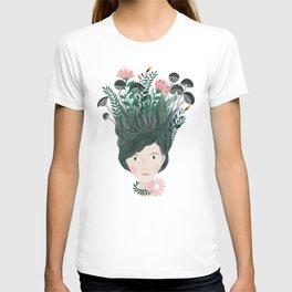 plant women portrait illustration T-shirt