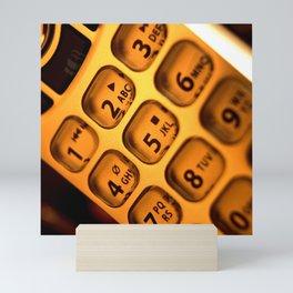 Phone keypad old school Mini Art Print