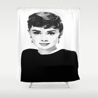 happy birthday Shower Curtains featuring Happy Birthday by Grace Teaney Art