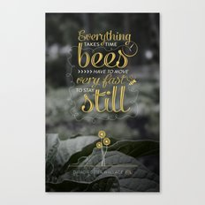 David Foster Wallace on Bees  Canvas Print