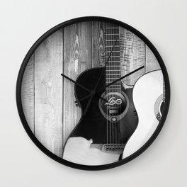 Acoustic Guitars Wall Clock