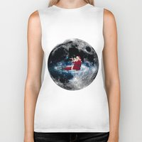 santa Biker Tanks featuring Santa by Cs025