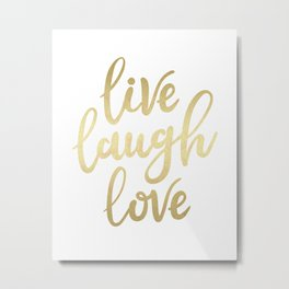 Live Laugh Love II Metal Print