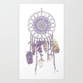 Dream catcher mandala in pantone floral fantasies Art Print