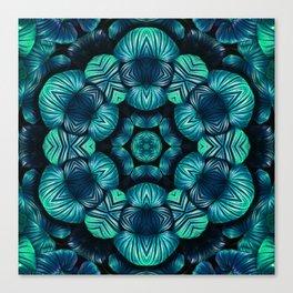 tropical mandala Canvas Print