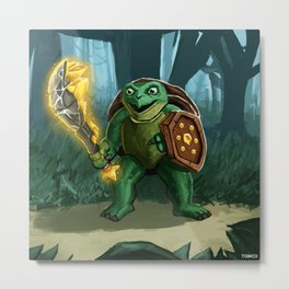 Turtle Paladin Metal Print