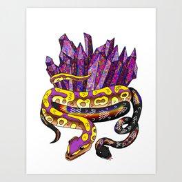 Snake Piece #47 - Rainbow Crystals Art Print