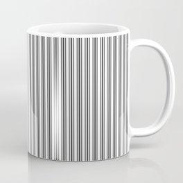 Trendy French Black and White Mattress Ticking Double Stripes Coffee Mug