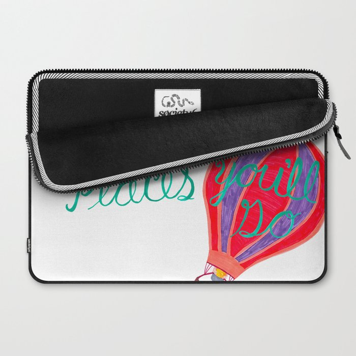 """Oh the Places You'll Go"" – Balloon plus Lettering Laptop Sleeve"