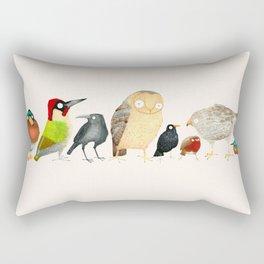 Woodland Bird Collection Rectangular Pillow