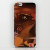 rat iPhone & iPod Skins featuring Rat by Brandon Heffron