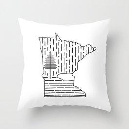 Snow MN (white) Throw Pillow