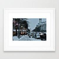 washington dc Framed Art Prints featuring Washington DC by Kira Kikla