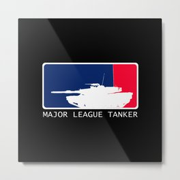 M1 Abrams - Major League Tanker Metal Print