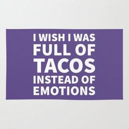 I Wish I Was Full of Tacos Instead of Emotions (Ultra Violet) Rug