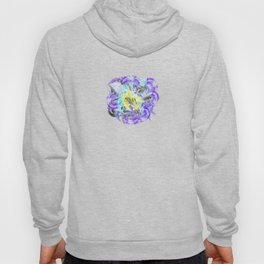 blue purple carnation abstract watercolor painting Hoody
