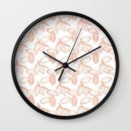 Cacao Pods (White Glow) - Fall Wall Clock
